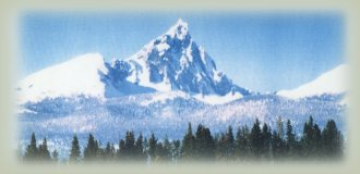 mt thielsen in the cascade mountains of oregon.