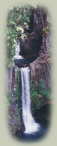 toketee waterfall on the wild and scenic umpqua river.