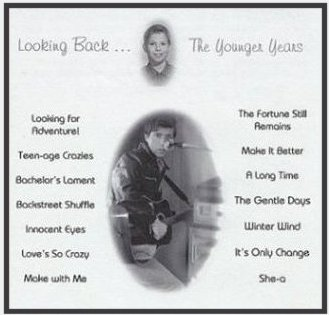 CD Album Cover: Looking Back ... The Younger Years. All music and arrangements by Brad Kalita. Instruments and vocals performed and recorded by Brad Kalita. Original artwork and prose by brad kalita, owner and dreamer behind gathering light ... a retreat offering cabins, tree houses, rv camping and vacation rentals in southern oregon near crater lake national park and klamath basin birding trails. Album layout and design by Gloria McCracken.